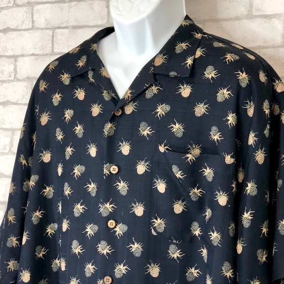 New Tommy Bahama Men/'s Gray 100/% Silk Camp Shirt Size 5X